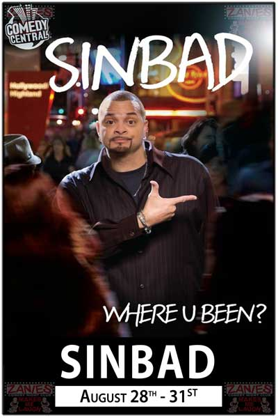 Sinbad Clean Comedy at its Best Live at Zanies Nashville August 28-31, 2014