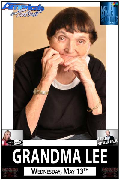 Grandma Lee from America's Got Talent live at Zanies Comedy Club Nashville Wednesday, May 13, 2015