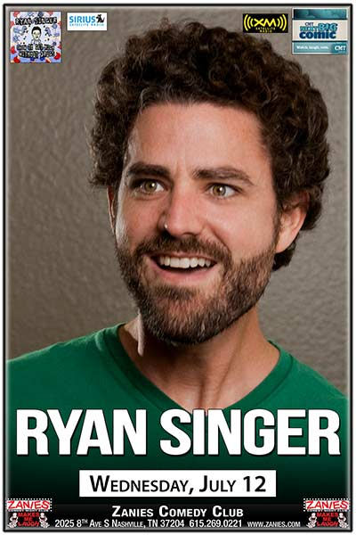 Ryan Singer LIVE at Zanies Comedy Club Nashville July 12, 2017