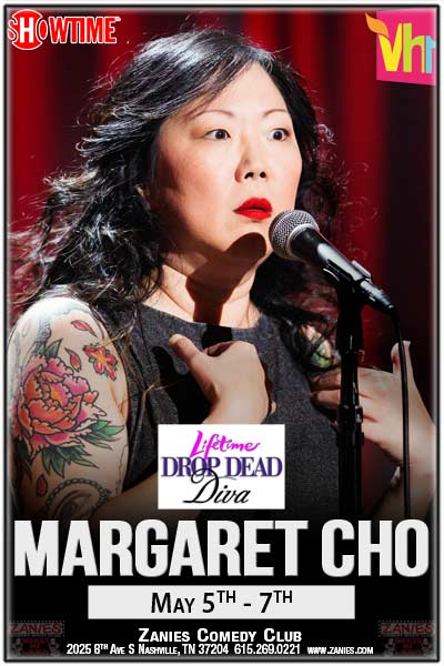 Margaret Cho from Showtime, Lifetime's Drop Dead Diva, VH-1 and much more live at Zanies Nashville May 5-7, 2016