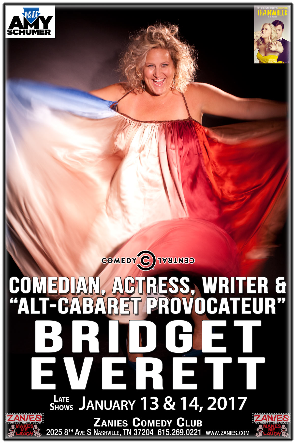 Bridget Everett Late Shows January 13 & 14, 2017 live at Zanies Comedy Club Nashville