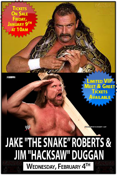 "Jake ""The Snake"" Roberts & Jim ""Hacksaw"" Duggan Live at Zanies Comedy Club Feb. 4, 2015"