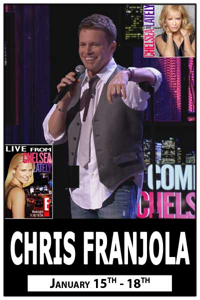 Chris Franjola Jan 15-18, 2015 live at Zanies Comedy Club