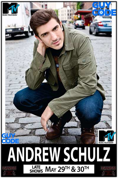 Andrew Schulz from MTV's Guy Code live at Zanies Comedy Club Friday and Saturday, May 29-30, 2015