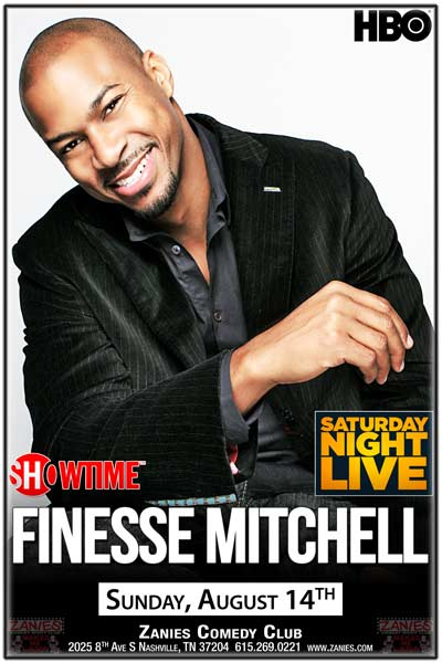 Finesse Mitchell from Saturday Night Live at Zanies Comedy Club Nashville Sunday, August 14, 2016