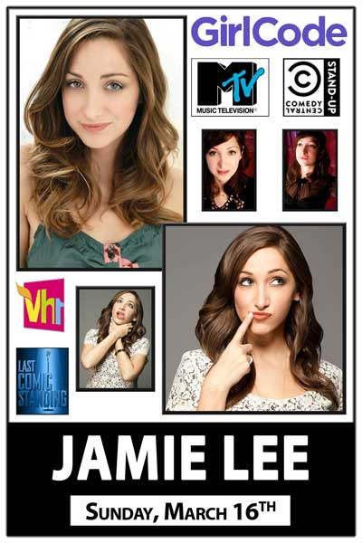 Jamie Lee from Girl Code Sunday, March 16