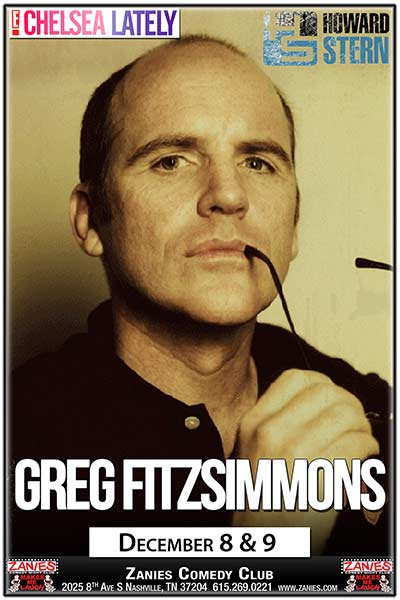 Greg Fitzsimmons Live at Zanies Comedy Club Nashville December 8 & 9, 2017