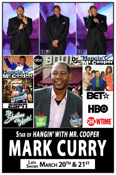 Star of Hangin with Mr. Cooper MARK CURRY live at Zanies Comedy Club Late Shows March 21 & 22, 2015