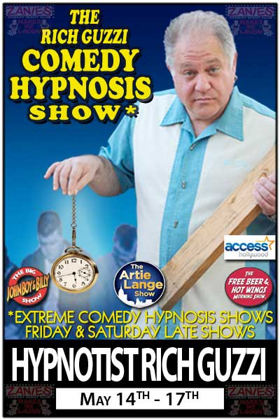 The Rich Guzzi Comedy Hypnosis Shows May 14-17, 2015 at Zanies Comedy Club Nashville