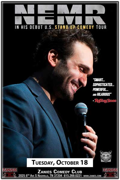 NEMR live at Zanies Comedy Club Nashville, Tuesday, October 18, 2016