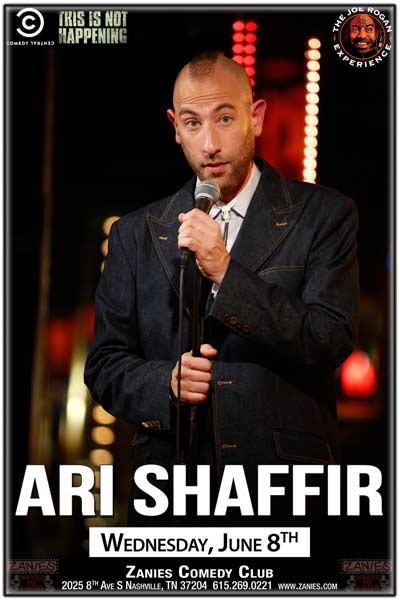 Ari Shaffir from Comedy Centrals This Is Not Happening live at Zanies Nashville Wednesday, June 8, 2016