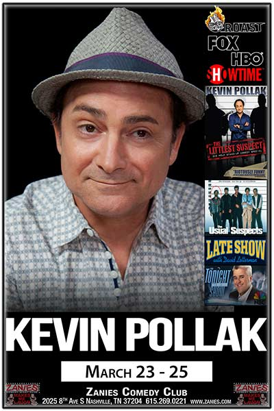 Kevin Pollak Live at Zanies Comedy Club March 23-25, 2017