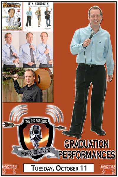 Rik Roberts School of Laughs Comedy Class Graduation Performances live at Zanies Comedy Club Nashville Tuesday, October 11, 2016
