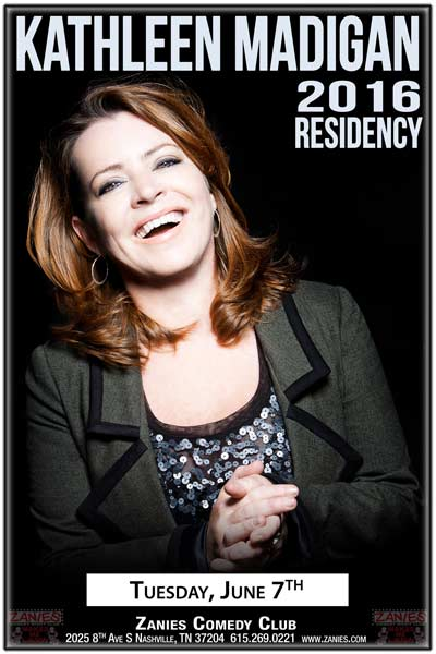 Kathleen Madigan 2016 Residency continues on Tuesday, June 7, 2016