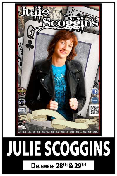 Julie Scoggis heard on JohnBoy & Billy Radio Show and seen on NBCs Last Comic Standing Dec 28 & 29, 2015 live at Zanies Comedy Club