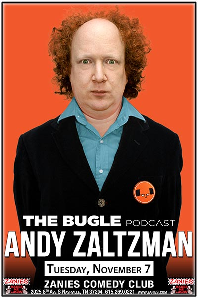 Andy Zaltzman from The Bugle podcast live at Zanies Comedy Club Nashville Tuesday, November 7, 2017
