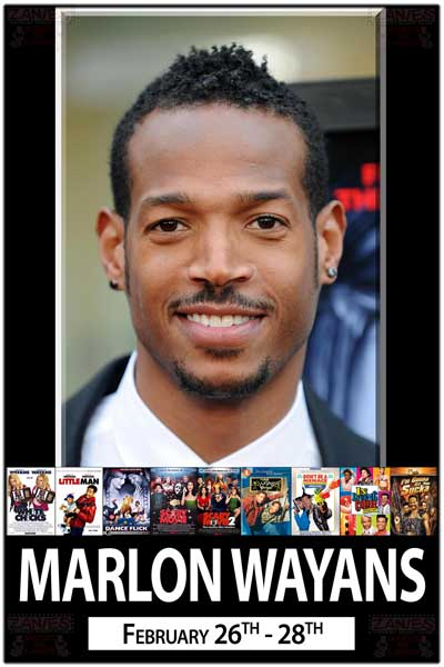 Marlon Wayans live at Zanies Comedy Club Feb 26-28, 2015