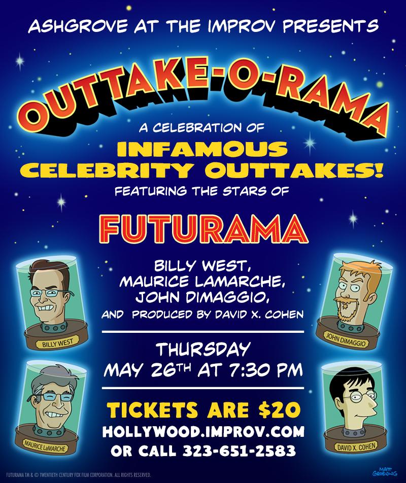 Outtake-O-Rama: The Voice Talents of FUTURAMA