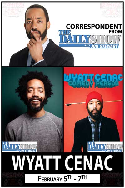 Wyatt Cenac from Comedy Central's The Daily Show with Jon Stewart live at Zanies Comedy Feb 5-7, 2015