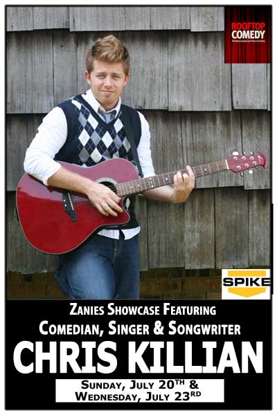 Chris Killian featured at Zanies Showcase Sunday, July 20 & 23, 2014 live at Zanies Comedy Club Nashville