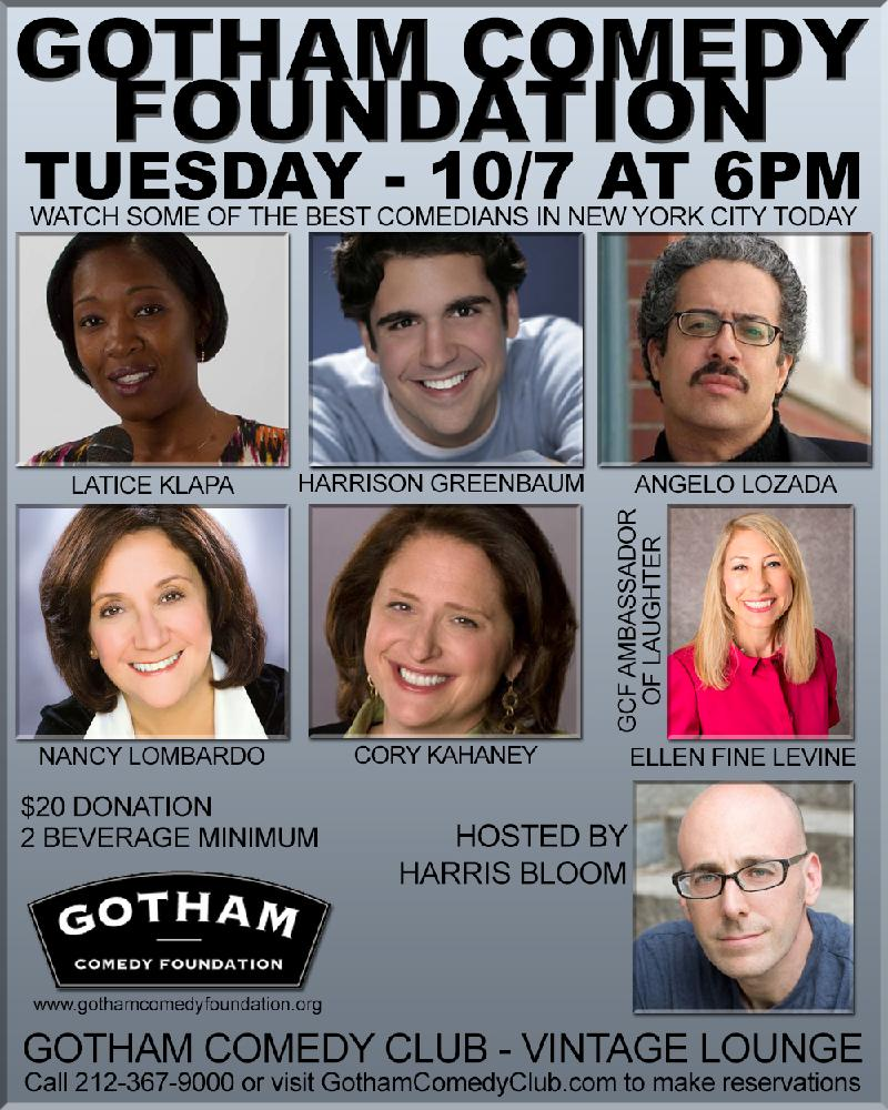 Laugh for a Cause  Benefit Performance for the Gotham Comedy Foundation