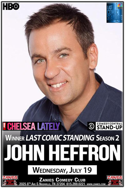 John Heffron Winner of Last Comic Standing Season 2 live at Zanies Comedy Club Nashville Wednesday, July 19, 2017