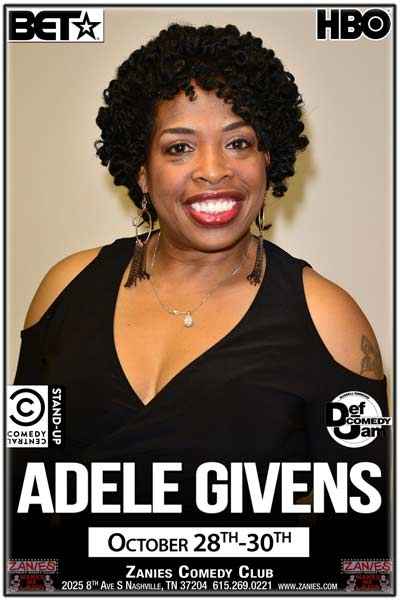 Adele Givens from BET, HBO, Comedy Central, Def Comedy Jam and much more live at Zanies Comedy Club Nashville October 28-30, 2016