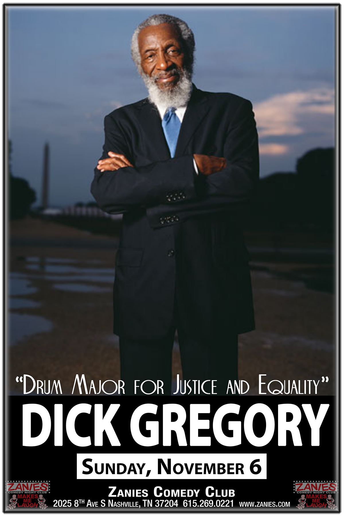 Dick Gregory One of America's best-known and best-loved political comedians takes the stage for an evening of hard-hitting and hilarious comedy. Sunday November 6, 2016
