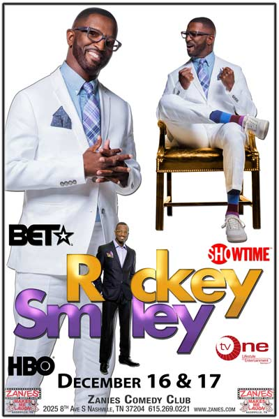 Rickey Smiley live at Zanies Comedy Club Nashville December 16 & 17, 2016