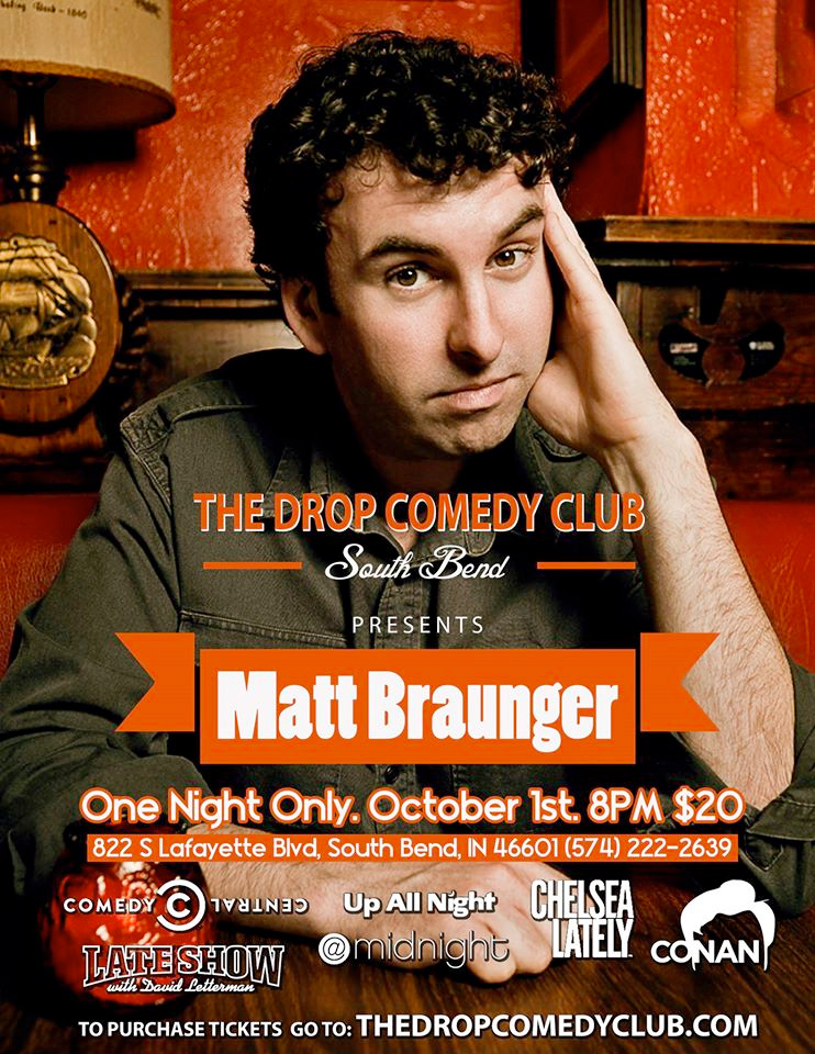 Matt Braunger at The Drop Comedy Club for One Night Only