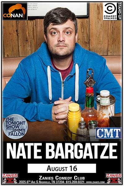 Nate Bargatze LIVE at Zanies Wednesday, August 16, 2017