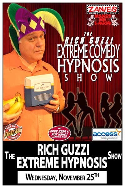 The Rich Guzzi Extreme Comedy Hypnosis Show Wednesday, November 25, 2015 live at Zanies Comedy Club Nashville