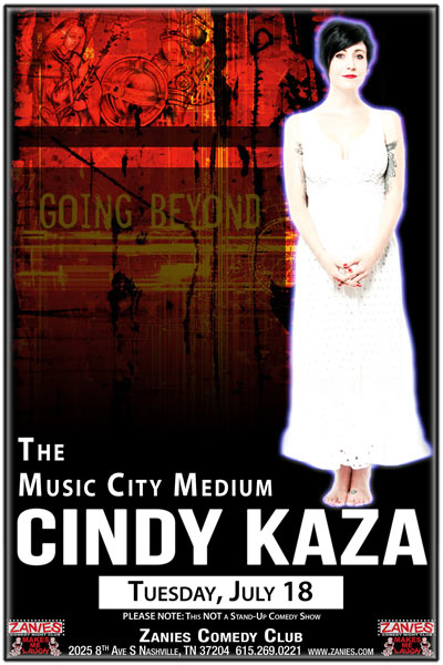 The Music City Medium Cindy Kaza LIVE at Zanies Comedy Club Nashville Tuesday, July 18, 2017