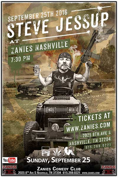 Steve Jessup LIVE from YouTube Whiskey. Weed. Women. live at Zanies Comedy Club Nashville Sunday, September 25, 2016