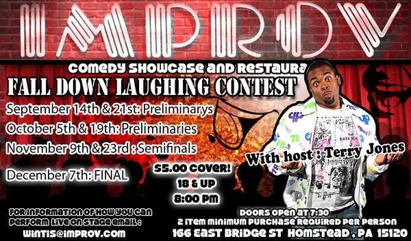 Open Mic Fall Down Laughing Contest