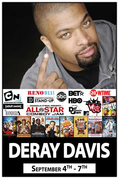 DeRay Davis Sept 4-7 at Zanies Comedy Club Nashville