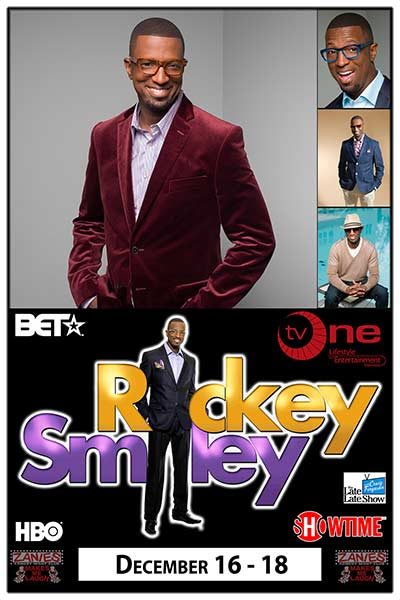 Rickey Smiley, Live at Zanies December 16-18, 2016