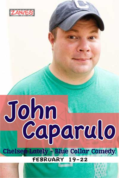 John Caparulo from Chelsea Lately live at Zanies Comedy Club Nashville Feb. 19-22, 2015