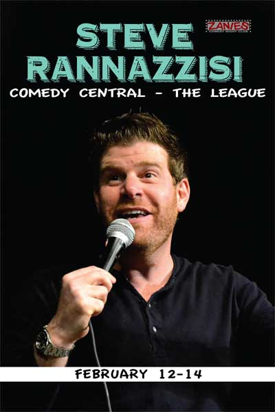 Steve Rannazzisi from FX's The League live at Zanies Comedy Club Nashville Feb 12-15, 2015