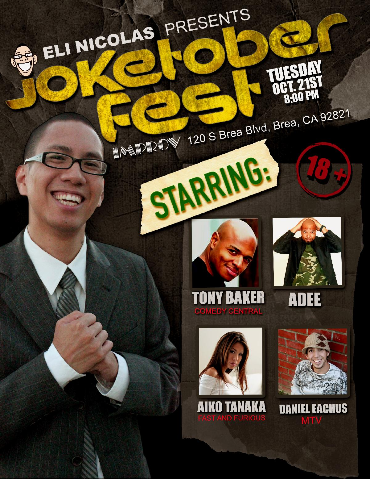 ELI NICOLAS PRESENTS JOKETOBER FEST