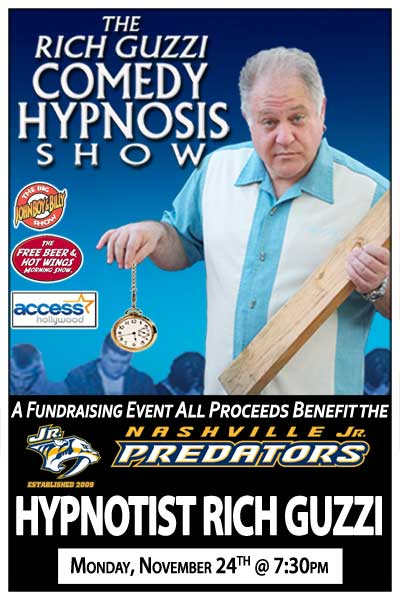 Hypnotist Rich Guzzi Fundraising Benefit for Nashville Jr. Predators