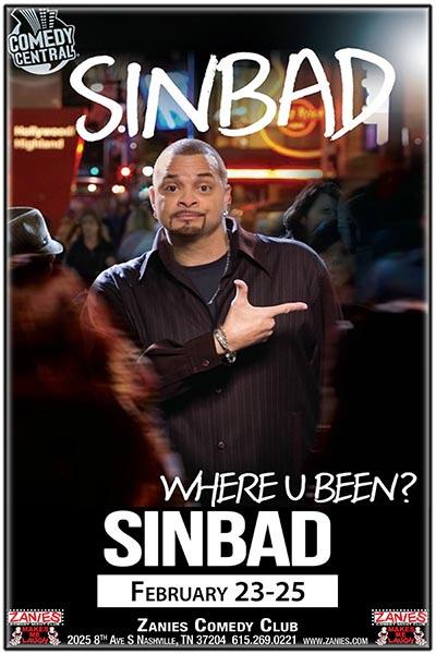 Sinbad Live at Zanies Comedy Club Nashville February 23-25, 2018