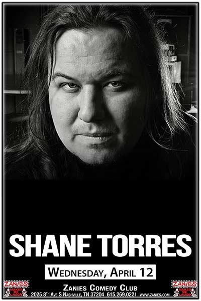 Shane Torres seen on Comedy Central and much more live at Zanies Comedy Club Nashville Wednesday, April 12, 2107