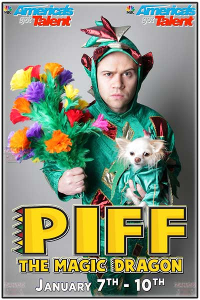 PIFF THE MAGIC DRAGON live from NBC's America's Got Talent will be at Zanies Comedy Club Nashville January 7-10, 2016