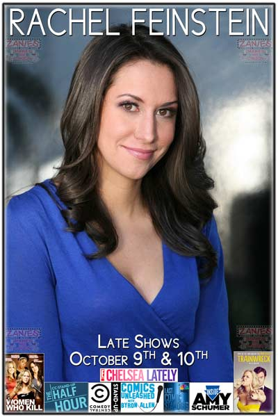 Rachel Feinstein seen in Trainwreck, Women Who Kill, Half Hour on Comedy Central, Last Comic Standing, Chelsea Lately, Inside Amy Schumer and much more live at Zanies Comedy Club Nashville Late Shows October 9-10, 2015