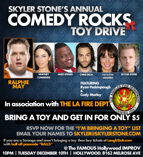 Skyler Stones COMEDY ROCKS with Ralphie May Whitney Cummings Chris DElia Natasha Leggero and Aries Spears