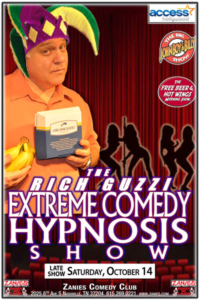 The Rich Guzzi Extreme Comedy Hypnosis Show live at Zanies Comedy Club Late Show Saturday, October 14, 2017