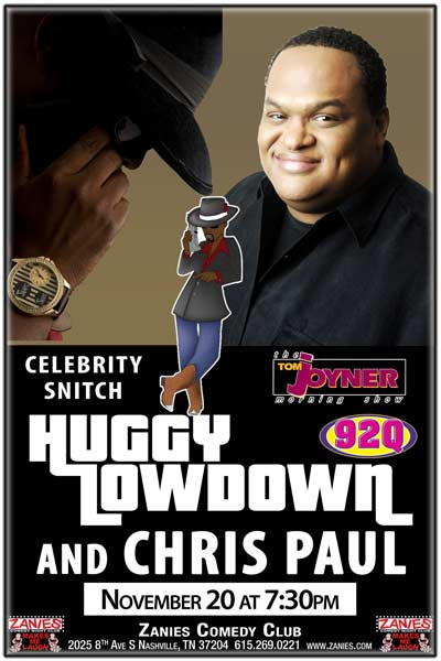 Huggy Lowdown & Chris Paul LIVE at Zanies, November 20, 2016