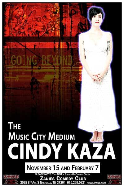 The Music City Medium Cindy Kaza live at Zanies Comedy Club Nashville Tuesday, November 15, 2016