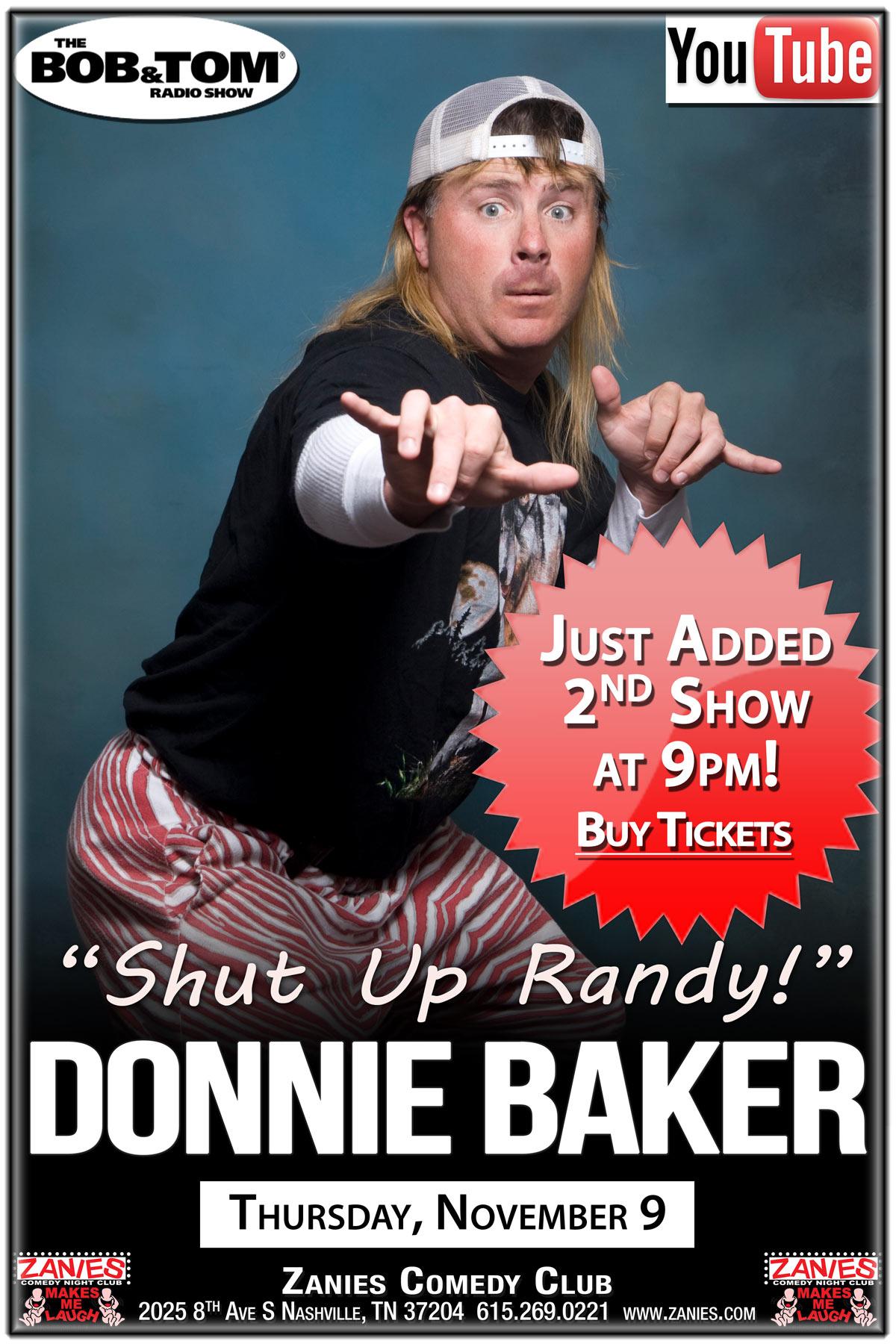 Donnie Baker live at Zanies Comedy Club Nashville November 9, 2017